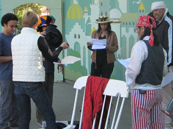 Veronica Loud rehearses as part of the Screen Actors Guild BookPALS live staged readings at Children�s Fairyland in Oakland, CA.