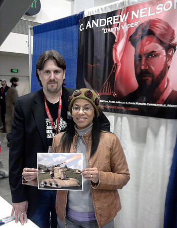 Veronica Loud with her husband C. Andrew Nelson at WonderCon 2011.